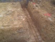 Préparation chantier coulage fondations
