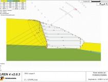 Exemple de calcul d'une paroi en béton projeté avec le logiciel TALREN ; Milieu Hospitalier, Ecully, Rhône (69).